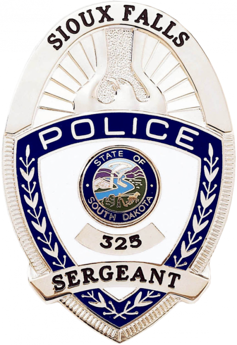 Oval Police Shield with Eagle