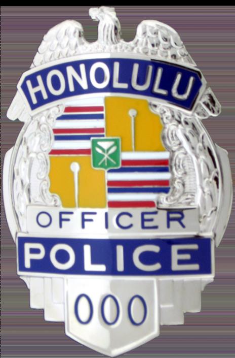 Honolulu Hawaii Custom Badge