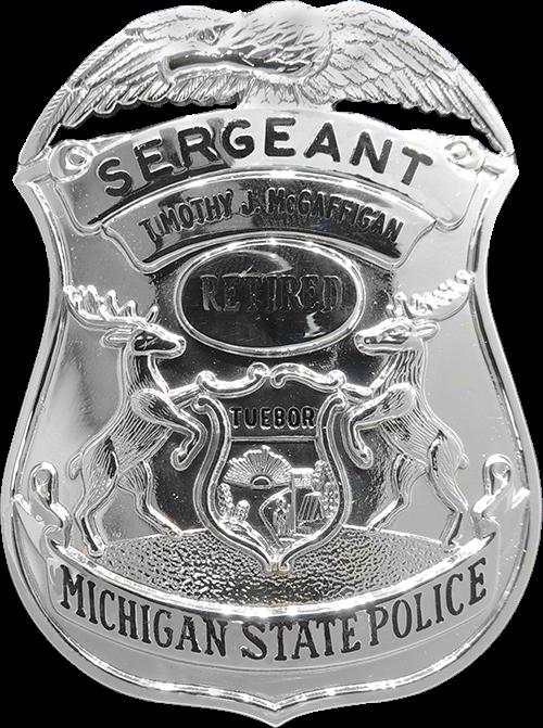 Retired Michigan State Badge