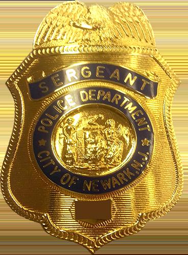 Newark Police Sergeant Badge with Eagle
