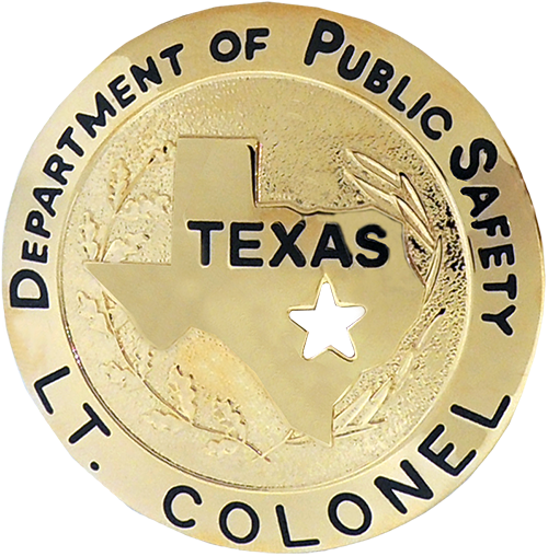 Texas Department of Public Safety Badge-with Cut Out Star
