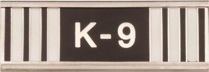 K-9 Handler Commendation Bar
