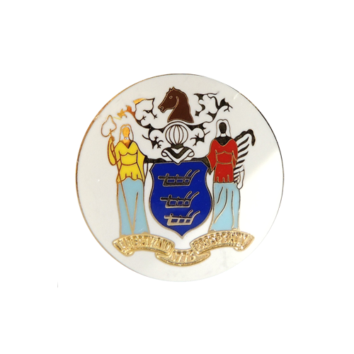 New Jersey State Seal With No Rim