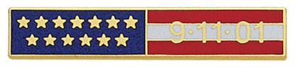 American Flag Citation Bar Fire Department screw back